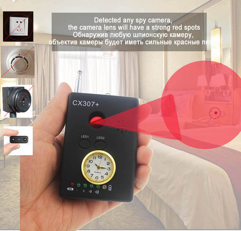 Full Range Anti - Spy Bug Detector Wireless Camera Hidden Signal GPS RF GSM Devices Finder Privacy Protect Security