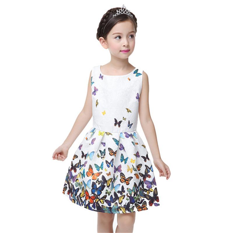 2016-New-Summer-Girls-Dresses-Teenage-Girl-Plum-Butterfly-Cartoon-Printed-Dresses-Kids-Children-Clothing-Girls