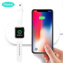 10W Fast Charge AirPower 2 in 1 Dual Wireless Charger For Apple Watch 4 Dock Charging Pad Pd Iphone X Samsung Galaxy S9 plus