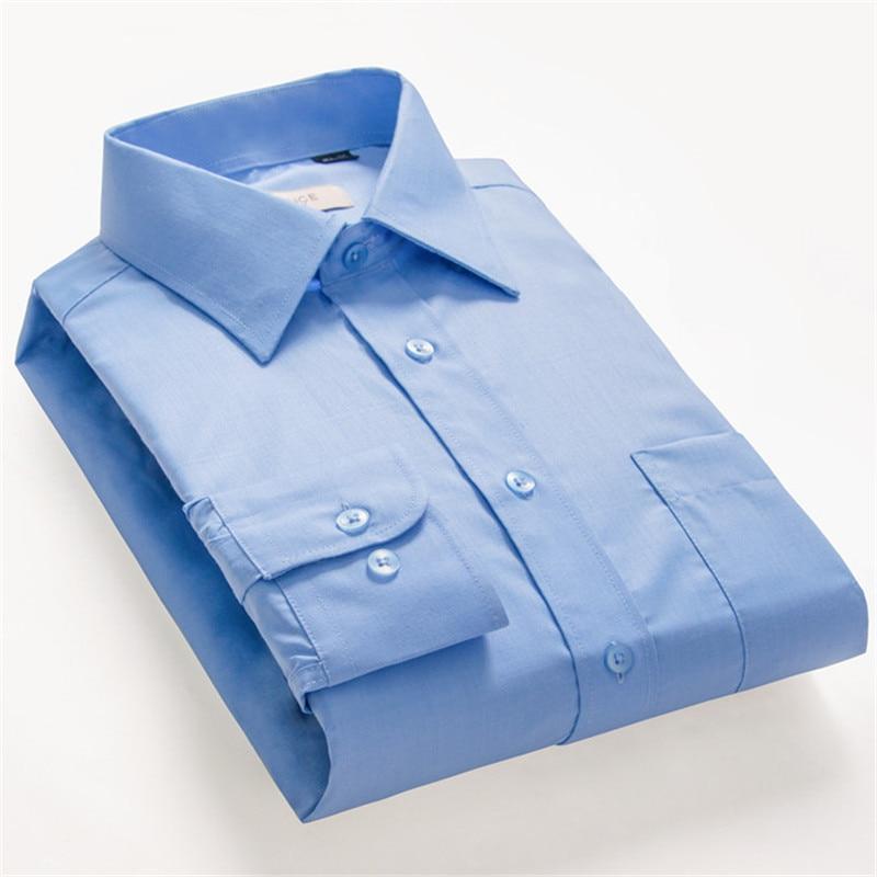 Весна Новый 2018 платье рубашка Для мужчин формальные мода с длинным рукавом бренд Бизнес Для мужчин повседневная рубашка в полоску Regular Fit Camisa masculina