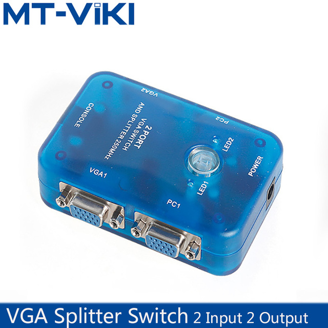 MT VIKI VGA Splitter Switch Selector Connector Support 2 In 2 Out 1920*1440 High Resolution HD vag sharer MT 202S