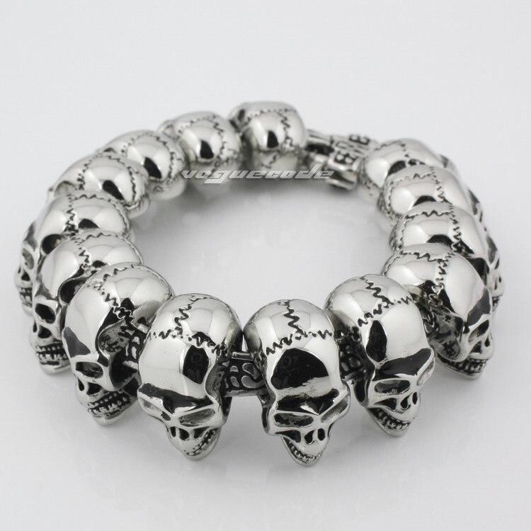 Bracelet de motard en acier inoxydable 316L pour hommes de différentes longueurs 5Q010B _ #9.0