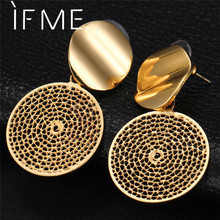 IF ME Vintage Dream Catcher Drop Earrings for Women 2018 New Punk Fashion Gold Silver Color Dangle Statement Earring Jewelry HOT