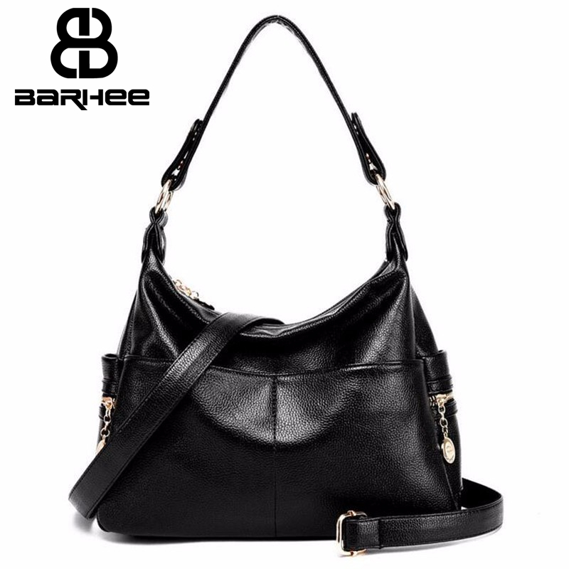 BARHEE New List Women Handbag Hobo O Bag High Quality PU Leather Shoulder Bag for Mom Daily Work Slit Handbag Mid-Size bolsos