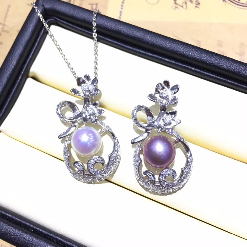 Fashion Hot Wholesale Pearl Pendant Mountings Pendant Findings Pendant Settings Jewelry Parts Fittings Wedding Accessories