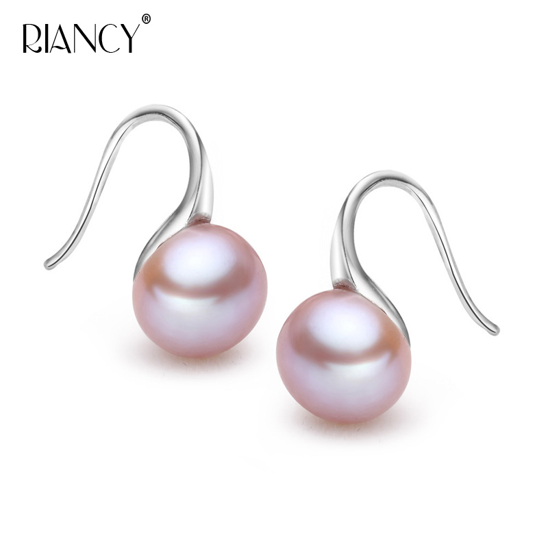Fashion high quality pearl earrings High Luster Pearl jewelry Classic 925 silver earrings for women Party wedding earrings