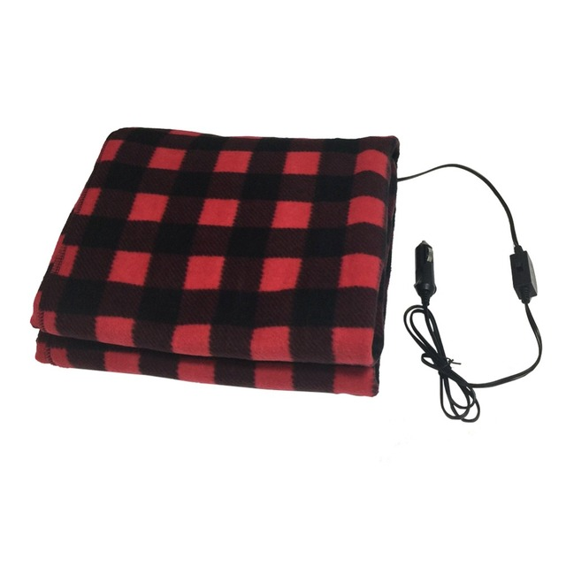 145 100cm Car Heating Blanket Winter Heated 12v Lattice Energy Saving Warm Auto Electrical For Constant Temperature