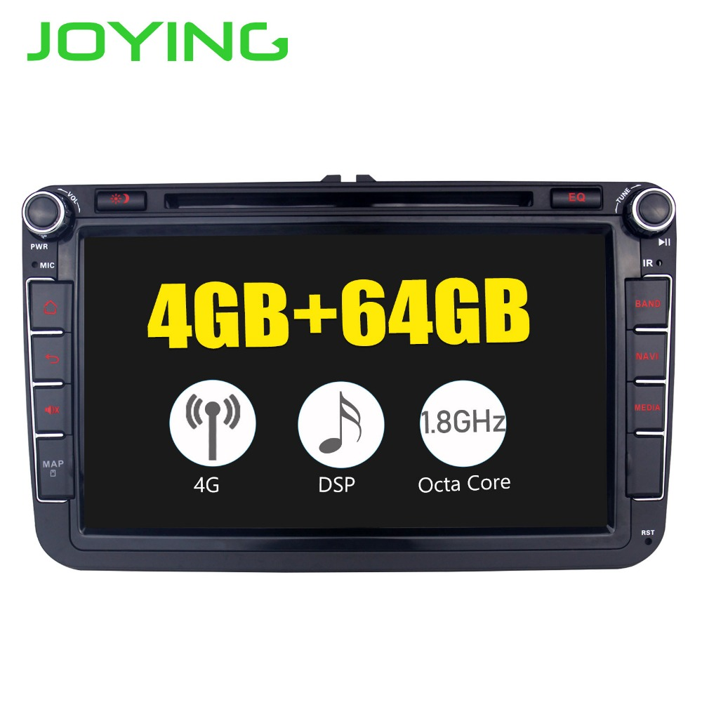 8 Head Unit DSP Android8 1 Car Radio Stereo For Volkswagen VW Passat Skoda Golf GPS