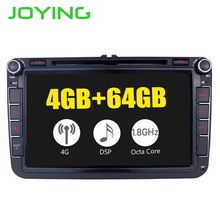 8Head Unit DSP Android8.1 Car Radio Stereo For Volkswagen VW Passat Skoda Golf GPS Navigation NO DVD Player Built-in 4G Modem funrover 7 in dash car stereo 2 din navigation gps car dvd player head unit audio car for vw jetta bluetooth built in free can