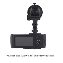 Professional Full HD 1080P Car Video Recorder 2.7 Inches Display Car DVR Cam Video Recorder With Dual Lens Recording