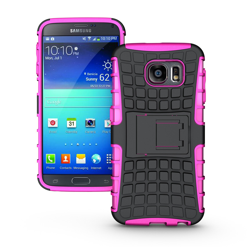 For Samsung Galaxy Note 2 II N7100 Slim Tough Armor Defender Case Hybrid TPU + PU Shockproof Shell With Stand Holder Hard Cover