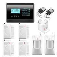 M2E Wireless GSM SMS Home Emergency Alert Security Alarm System PIR Motion Sensor Door Gap Detector