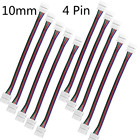 One Or 10pcs 10mm 4 Pin 5050 LED RGB Strip Extension Connector Cable Wire LED Strip Extension Cable Drop Ship