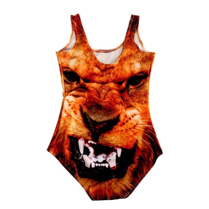042f8fefe7d Hot Sexy Bikini One Piece Women Swimsuit 3D Animal Creative Ferocious Face  Bathing Beachwear Swimming Set Traje de bano LNSst-in Body Suits from  Sports ...