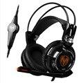 Somic g941 resplandor luces led gaming headset stereo auriculares para juegos pc gamer usb 7.1 ordenador auriculares diadema con micrófono