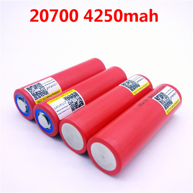 Liitokala for SANYO 20700B 20700 4250 mAh battery NCR20700B High battery rate 20A 20700