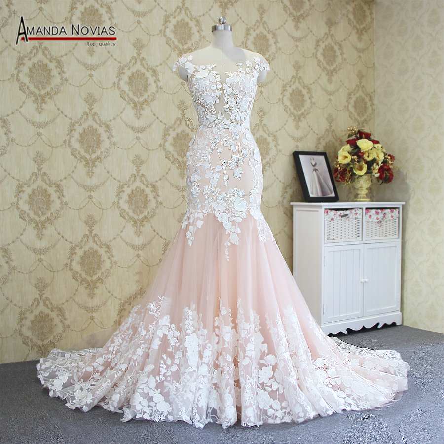 2017 Hot Sale Sexy Mermaid Lace Wedding Dress 100% Real