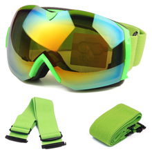 Ski Goggles for Men Women, Cloudy Day or Sunny Day Version, UV400 Anti-fog Big Spherical Snowboard Glasses Wear Over RX Glasses
