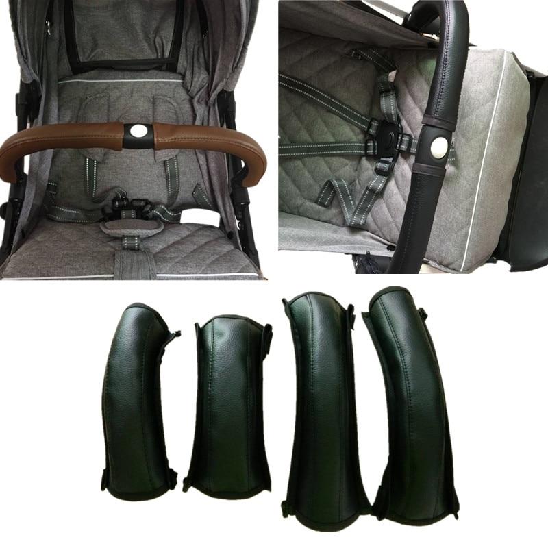 2pcs/set Pram Stroller Handle Leather Baby Stroller Armrest Protective Case Armrest Covers Baby Stroller Accessories