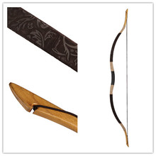 Longbowmaker Hot Design Beautiful Fashion master brown Printing Flower Horsebow 20-60lbs longbow H1YH