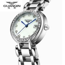 Montre Femme Mujeres de Lujo Famosa Marca de Relojes Originales GUANQIN Reloj de Diamantes Señoras Reloj de Cuarzo Resistente Al Agua Relojes Femeninos
