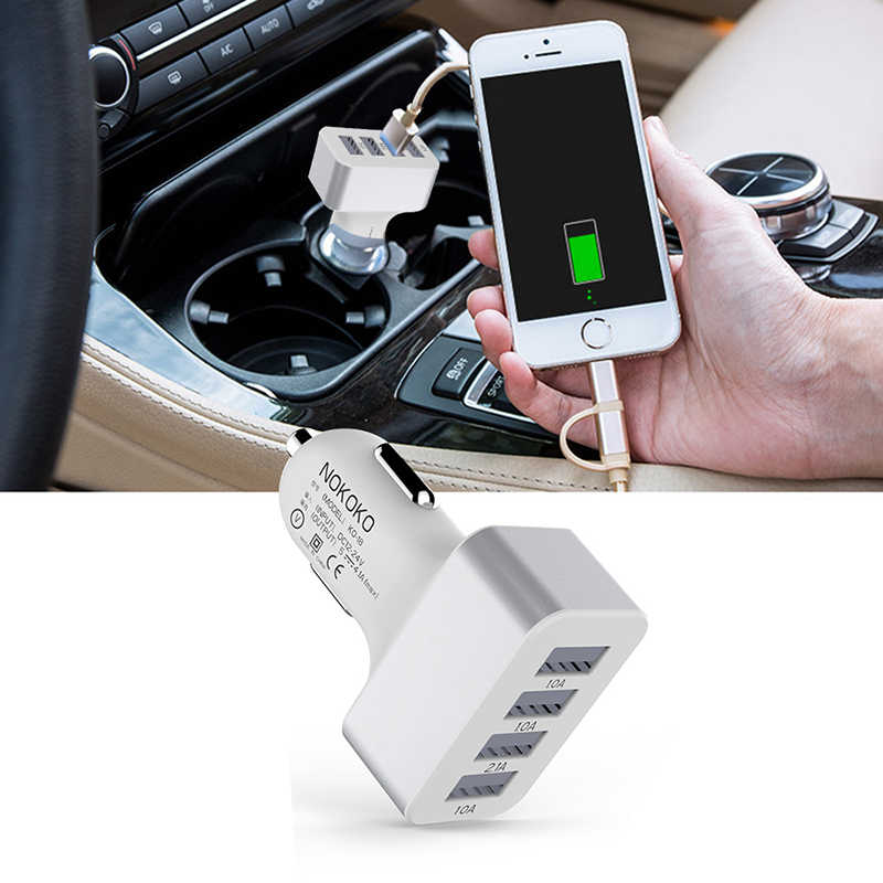USB Charger Mobil 4 Port Charger Adaptor Soket 2A 2.1A 1A Mobil Styling 3 USB Charger Universal untuk Ponsel ponsel Pad Charger