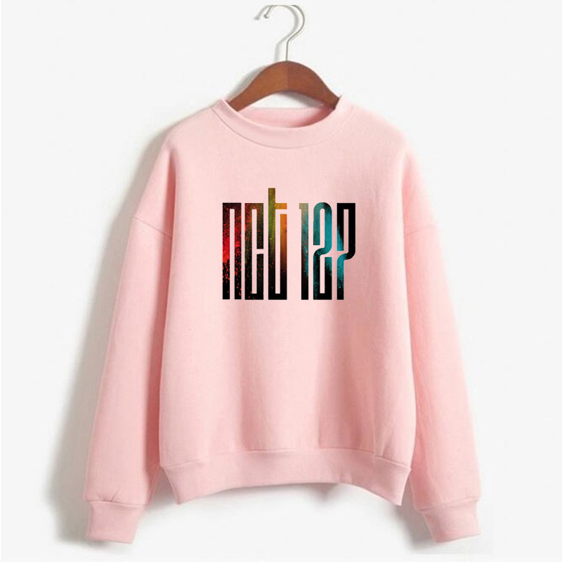 Kpop NCT 127 Hoodie Women Casual Cotton Printed Crewneck Sweatshirt Clothes Pullover Printed Long Sleeve Sweatshirts Coats