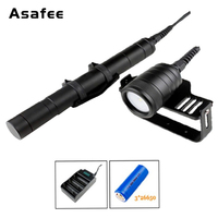 Asafee DIV09V Underwater Videography Fill Light Canister Diving Flashlight Cree XM L2 LED Mergulho Torch with 26650 Battery