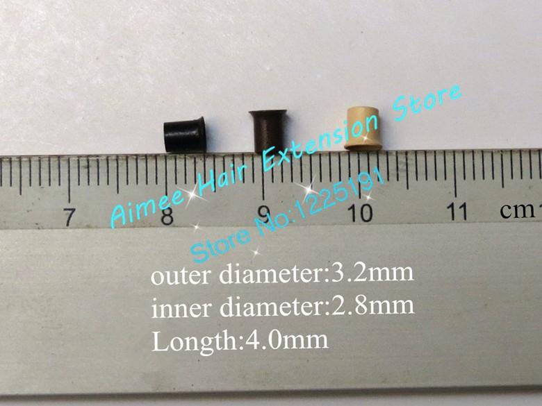 3.2*2.8*4.0 мм 1 # черный 1000 шт./упак. меди вспыхнул кольцо легко блокирует/медная трубка микро ссылка/кольцо/шарик для наращивания волос я совет