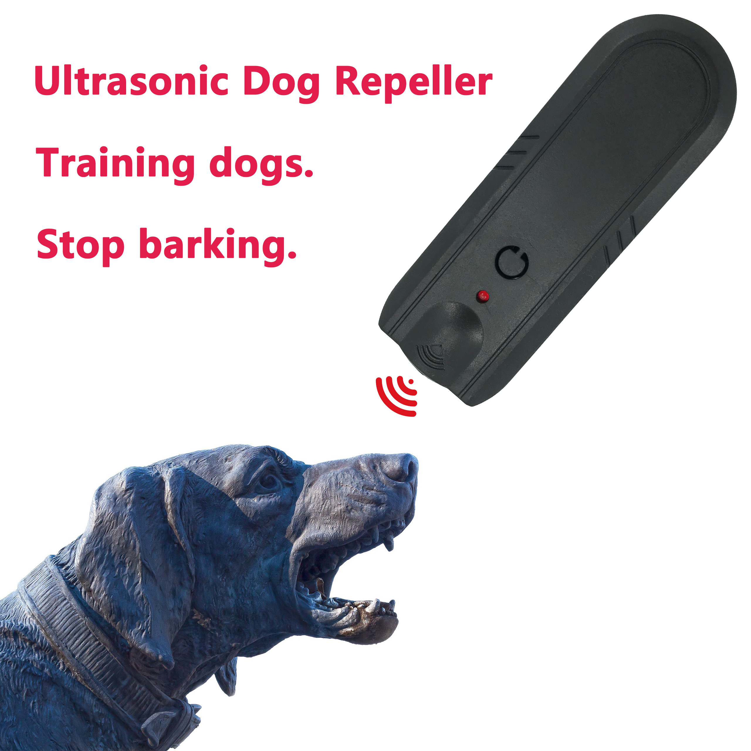 Ultrasonic Dog Repeller and Trainer Device Animal Repeller Dog Stop Barking Traning Dogs Electronic Repeller Outdoor