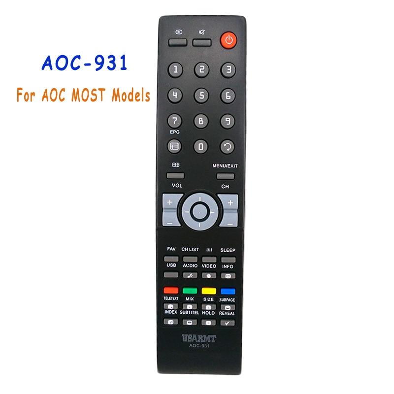 New Remote Control AOC-931 For AOC TV Universal Remote Control For AOC MOST Models Fernbedienung монитор aoc 21 5 e2270swdn e2270swdn