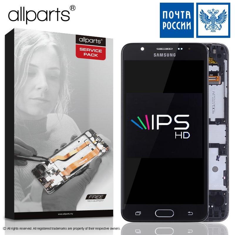 5,5'' NUEVO Original pantalla para SAMSUNG Galaxy J7 Prime 2016 LCD Tactil Completa Display táctil Écran para SAMSUNG j7 Prime G610 G610F G610M pantalla LCD con marco Digitalizador reemplazo Negro Dorado Blanco