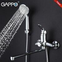 GAPPO NEW Modern Wall Mount Waterfall Bathtub Faucet Bathroom Taps Brass Water Mixer Sink Faucet Torneira