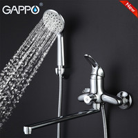 GAPPO NEW Modern Wall Mount Waterfall Bathtub Faucet Bathroom Taps Brass Water Mixer Sink Faucet Torneira