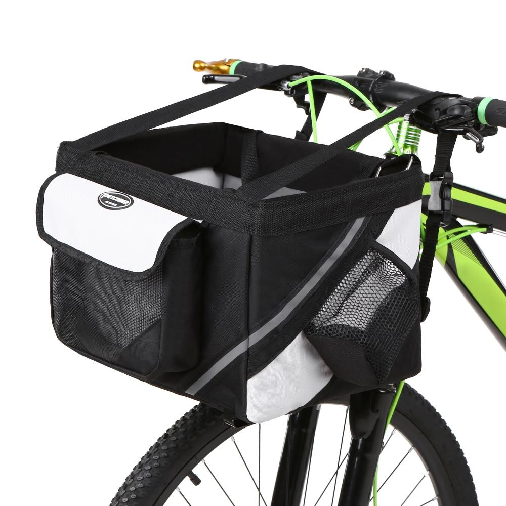 Vélo avant sac pour vélo vélo panier pour vélos guidon boîte Pet chien chat transporteur cadre sac pour vélo