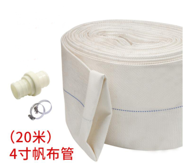 100mm High Pressure Water Hose Garden Irrigation Watering Hose Antifreeze Canvas Fire-Protection Hose 20m/roll