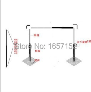 10ft 13ft Stainless Steel Wedding Backdrop Stand Pipe With Expandable Rods Adjule For
