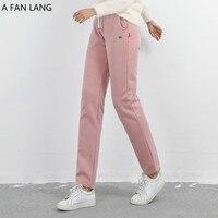 2018 фан lan Спортивные штаны женские байковые штаны женские брюки зима толстые Утепленная одежда брюки