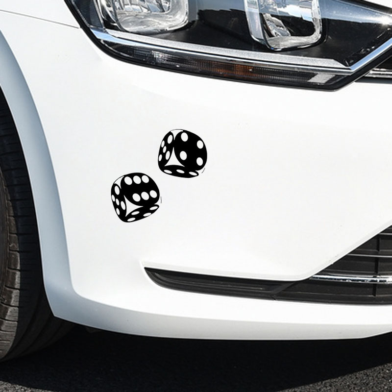 Image 3 - YJZT 13.4*13CM Interesting Car Sticker Casino Poker Dice High Quality Decoration Vinyl Graphic C12 0060-in Car Stickers from Automobiles & Motorcycles