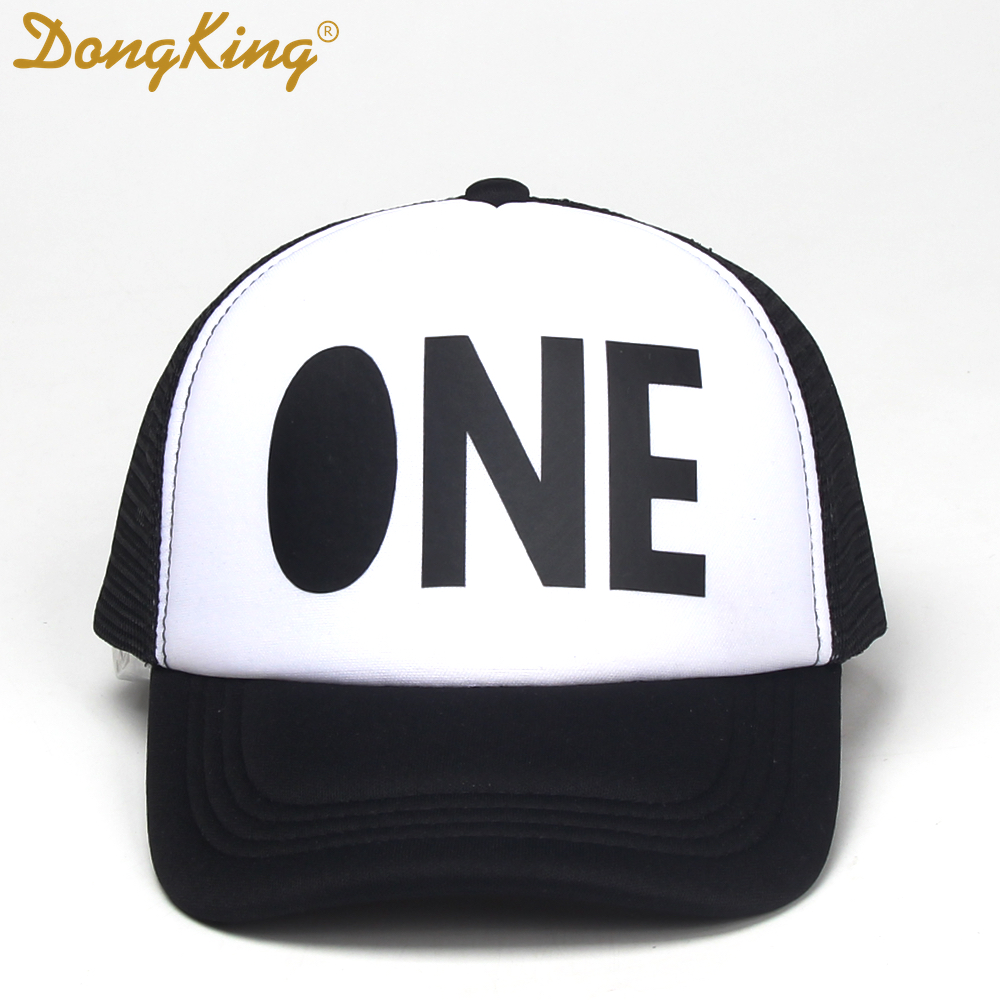 DongKing Kids Trucker Hat First Birthday Cool Cap 1st Third Fourth Hats Boys Girls Baby Gift In Baseball Caps From
