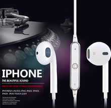 S6 Wireless Bluetooth Headset 4.1 Sport Waterproof In-ear Stereo Earphone With Mic Voice Control Handsfree for iPhone 6S