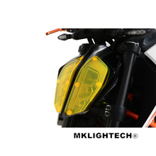 MKLIGHTECH For KTM 390DUKE 790DUKE 2017-2018 Motorcycle Acrylic Headlight Screen Protecter Lens Cover