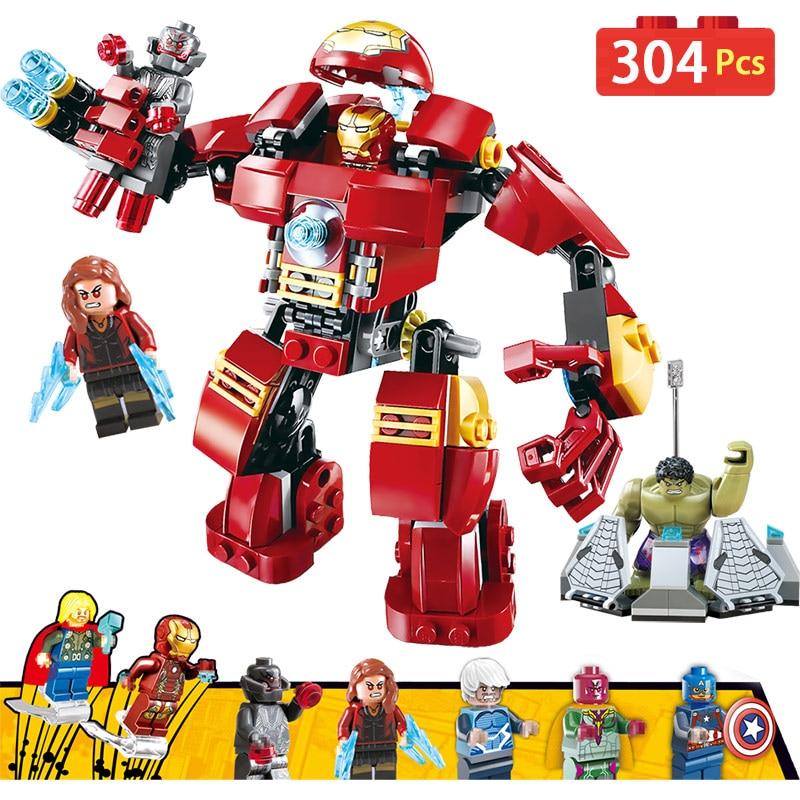 Marvel Super Hero Avengers Compatible LegoINGLYs Iron Man Hulk Technic Designer Bricks Movie Building Blocks Toys For Boys Gift 8 in 1 military ship building blocks toys for boys