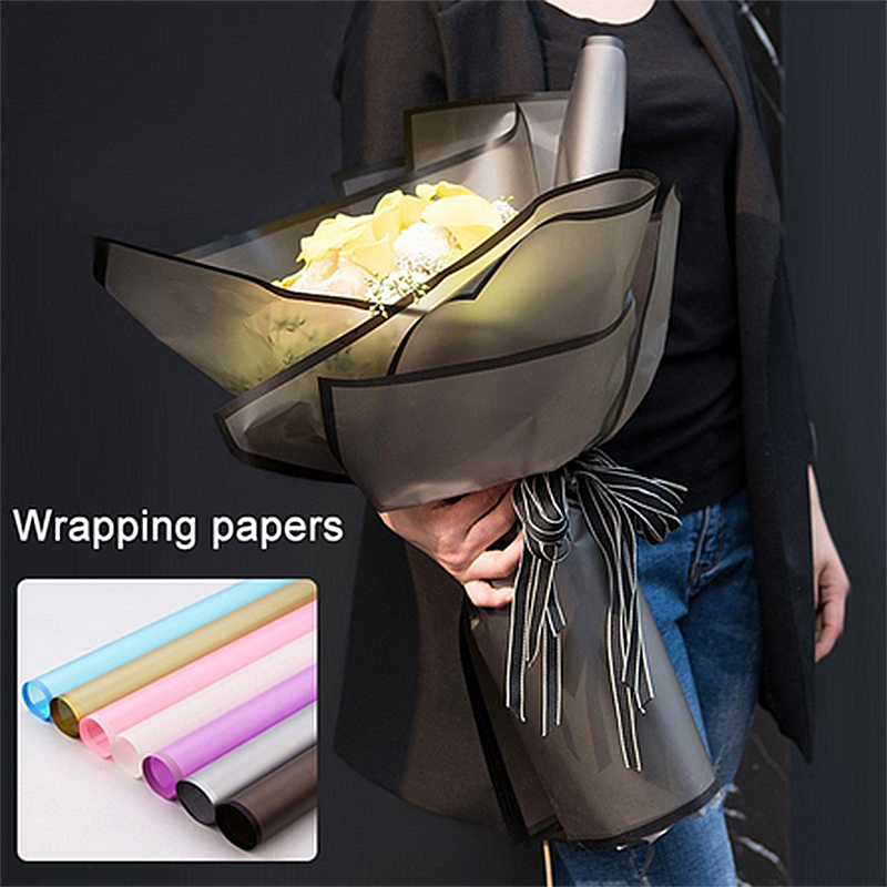 2019 New 20pcs Korean Flowers Two-tone Packing Neutral Color Gift Wrapping Paper Florist Flower Wrapping Paper Bouquet Supplies