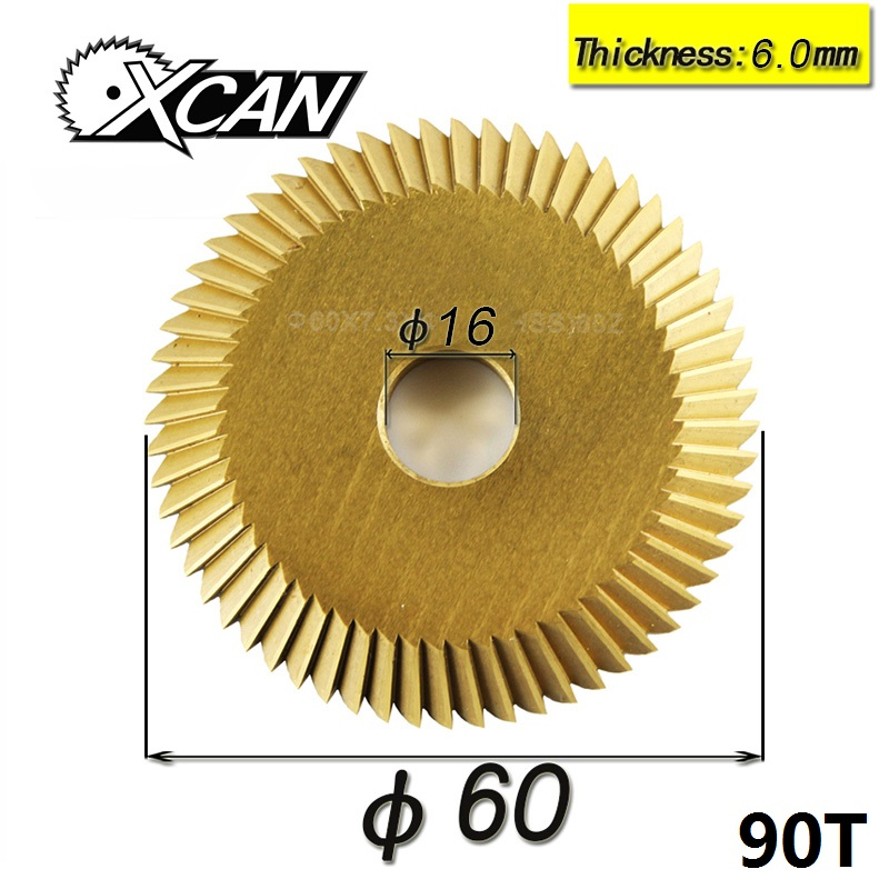 Key Cutting Machine Blade 90 Tooth For Wenxing 268A Power Tools Single Side Circular Saw Blade Titanium 60*16*6mm