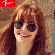 Psacss Metal Round Sunglasses Men Women Vintage Rainbow Color Feamle Luxury Brand Designer Sun Glasses oculos de sol feminino