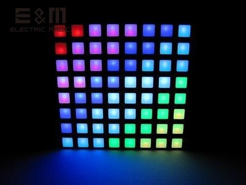 E & M 16777 K Kleur Vierkante Dot Matrix RGB LED Display Colorduino STM 6 cm 8*8 Pixel IDE Brandende Gemeenschappelijke Anode Module
