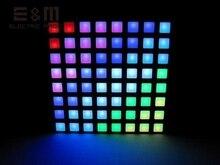 E & m 16777 k cor quadrado dot matrix rgb display led colorduino stm 6cm 8*8 pixel ide queima comum ânodo módulo
