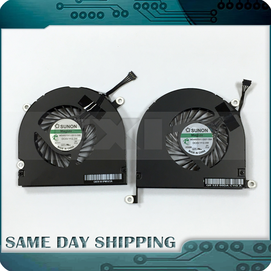 Laptop A1297 CPU Cooling Fan Cooler for MacBook Pro 17 A1297 Fan Left Right Side 2009 2010 2011 MB604 MC226 MC024 MC725 MD311 new laptop cpu cooler fan for macbook pro 15 a1286 fan left