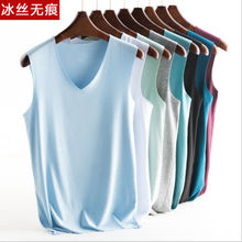 Xie jia male vest brand new trackless white black casual sexy fashion spandex